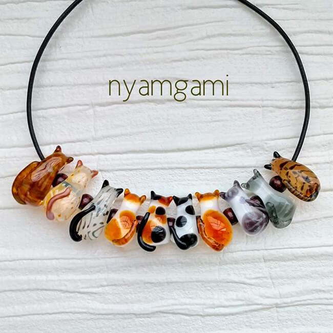 猫モチーフのガラス雑貨 by nyamgami