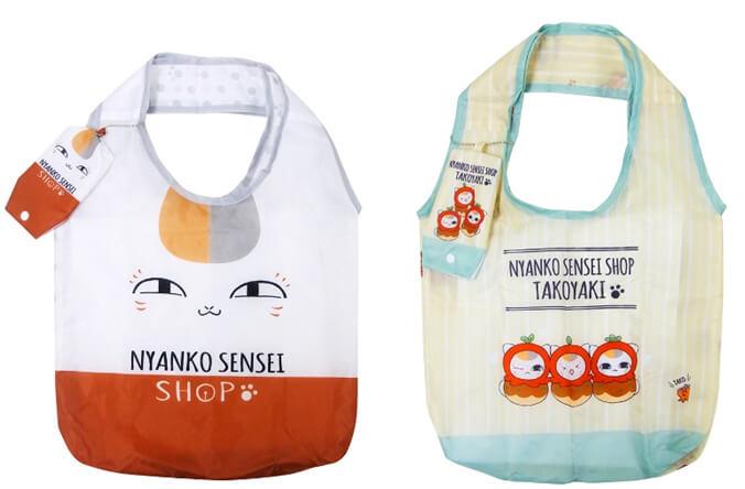 ニャンコ先生デザインの「エコバッグ」2柄
