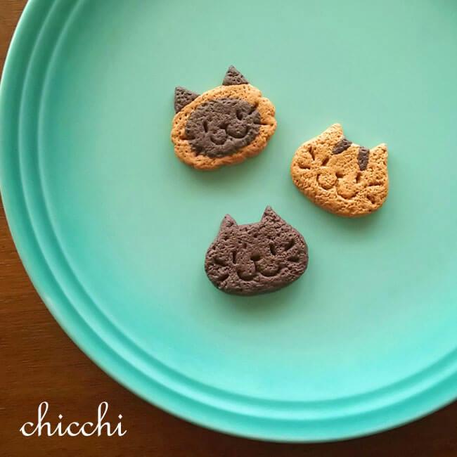 猫クッキーのようなアクセサリー by chicchi