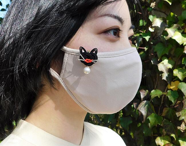 猫モチーフのマスククリップ by mizuhikigirl