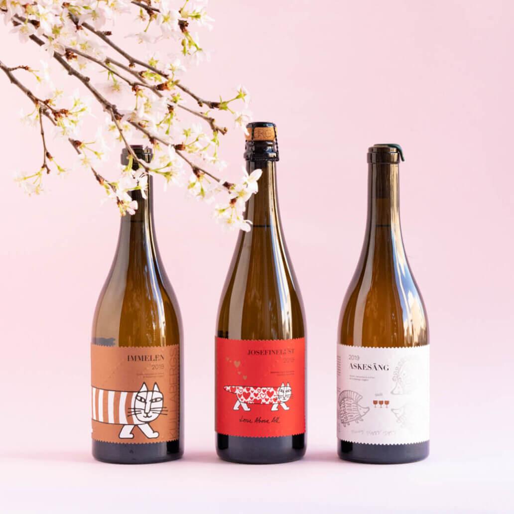 リサ・ラーソンラベルのスウェーデンワイン3種類