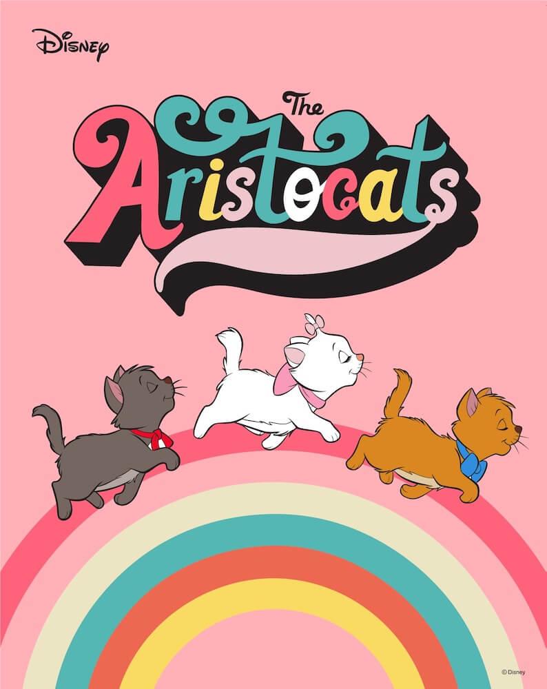 ディズニー映画おしゃれキャット「The Aristocats (貴族のネコ)」に登場する子猫のベルリオーズ、マリー、トゥルーズ
