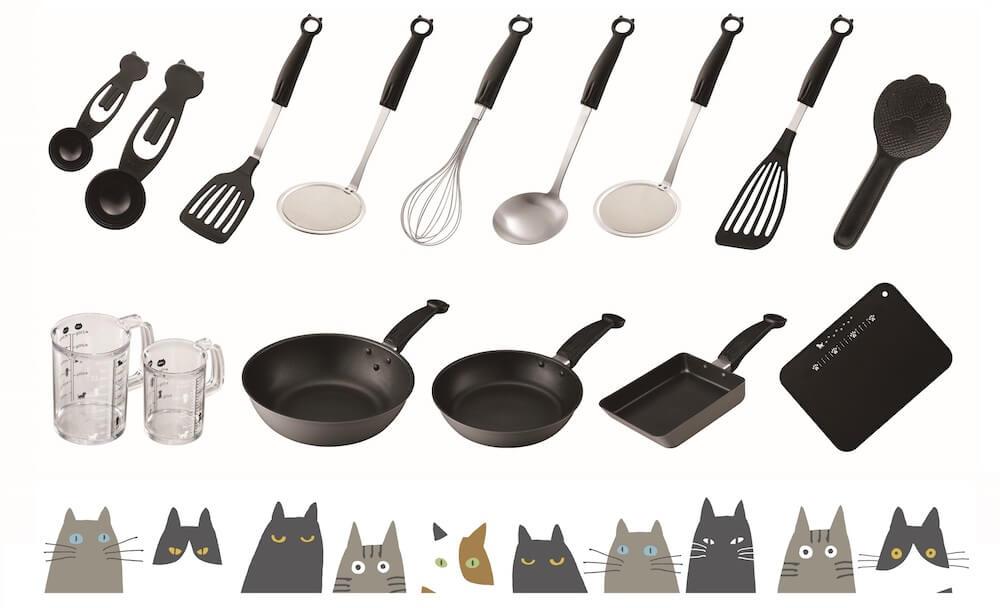 猫をモチーフにしたデザイン調理小物「Nyammy(ニャミー)」シリーズの商品一覧イメージ