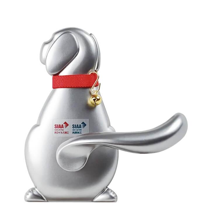 犬型のドアノブ&レバーハンドル「Vi-Clearわんにゃんレバーハンドル」左向きデザイン