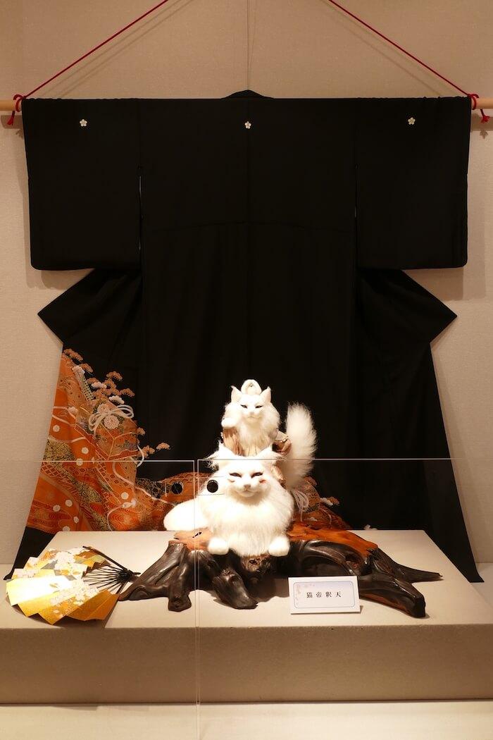 羊毛フェルトで作った猫「猫帝釈天」の作品イメージ by 熊木早苗
