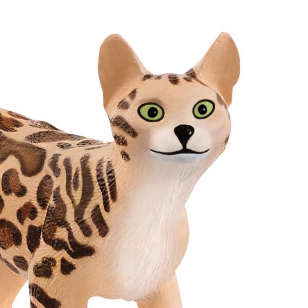 ベンガル猫のフィギュアのボディ拡大イメージ by シュライヒ(Schleich)のファームワールド