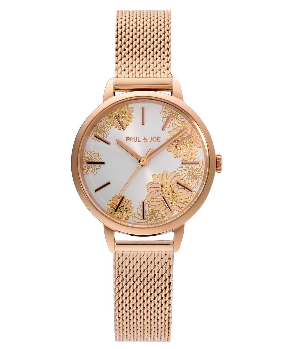 西洋菊の柄がデザインされた腕時計「Chrysanthemum(クリザンテーム)」 by ポールアンドジョー