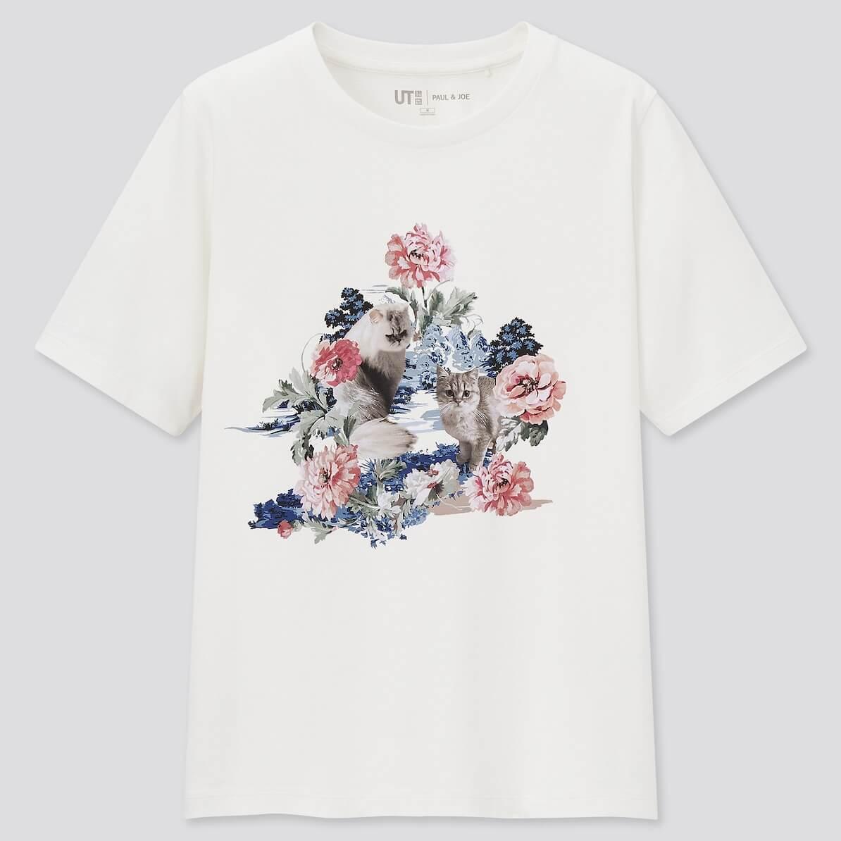 猫のGipsy & NounetteをモチーフにしたTシャツ by UTとポールアンドジョーのコラボ商品