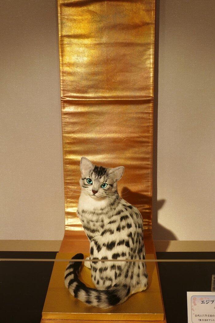 羊毛フェルトで作った猫「エジプシャンマウ」の作品イメージ by 熊木早苗