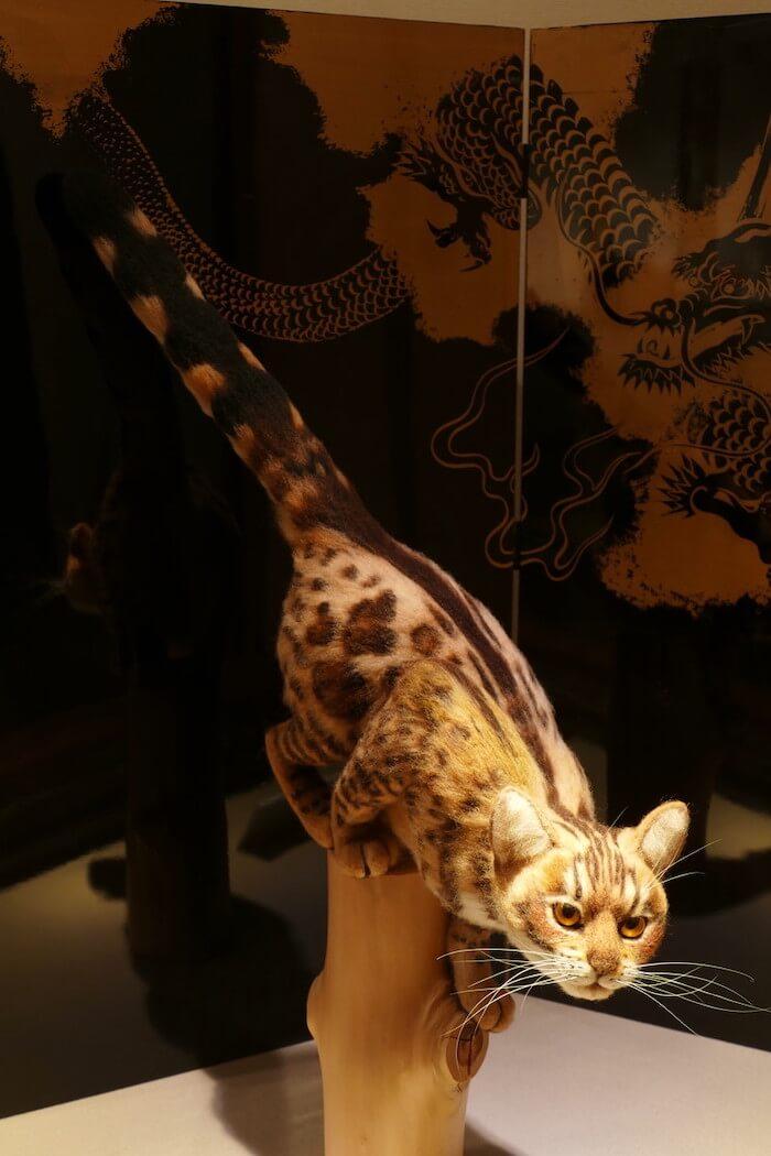 羊毛フェルトで作った猫「ベンガル」の作品イメージ by 熊木早苗