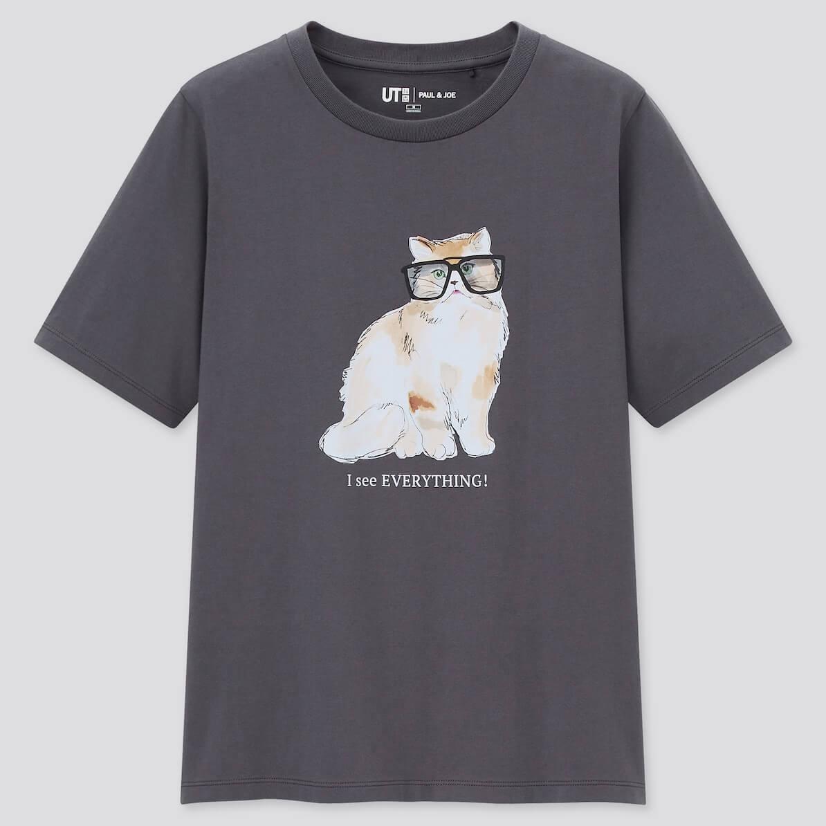 サングラスキャット柄のデザインTシャツ by UTとポールアンドジョーのコラボ商品