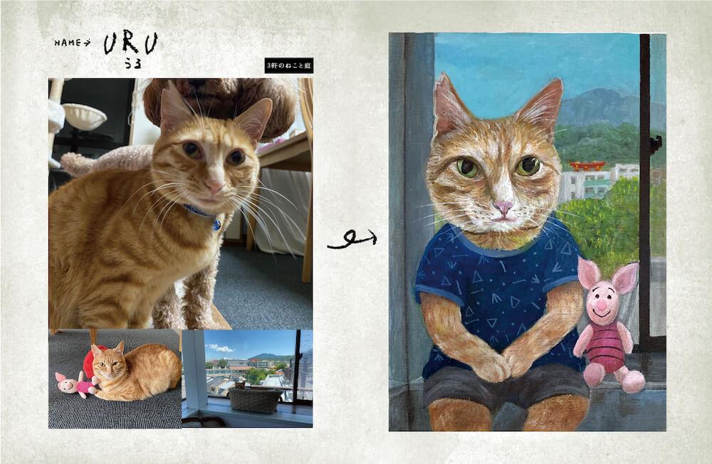 写真を元に擬人化して制作した茶トラ猫の絵画 by 画家・田嶋香里