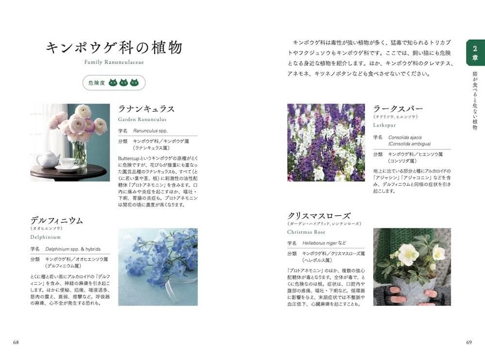 猫が食べると危ない植物(キンポウゲ科)の解説ページ by 猫が食べると危ない食品・植物・家の中の物図鑑
