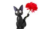 黒猫ジジのしっぽにお花を飾れる一輪挿しが登場♪ 母の日ギフトにぴったりな可愛いグッズがどんぐり共和国から発売