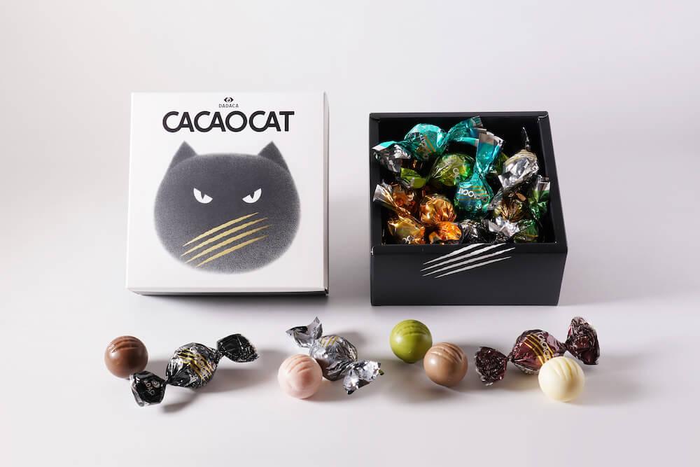 CACAOCAT(カカオキャット)20個入りアソートのパッケージデザイン&商品イメージ