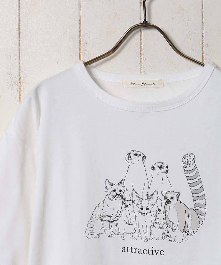 スナネコなど珍しい動物をデザインしたTシャツ by Bleu Bleuet(ブルーブルーエ)
