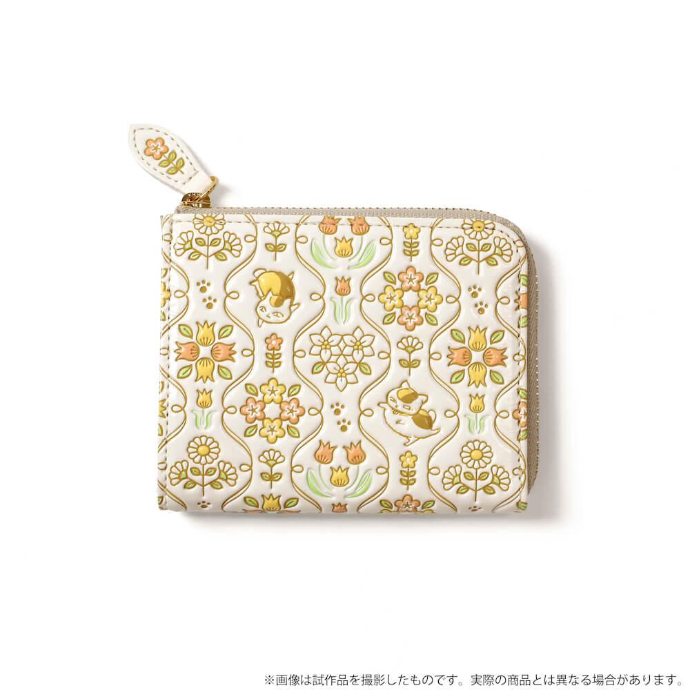 ニャンコ先生デザインのミニ財布 製品イメージ by 革製品メーカーの「浅草文庫」