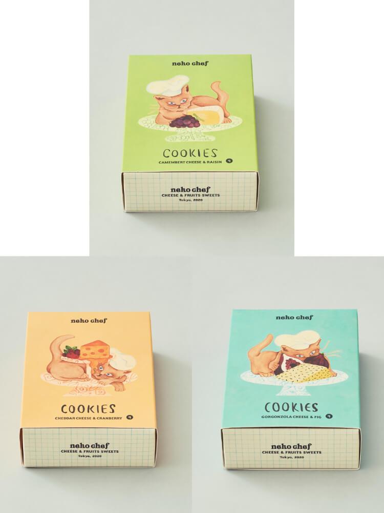 neko chef(ネコシェフ)のクッキー商品パッケージ