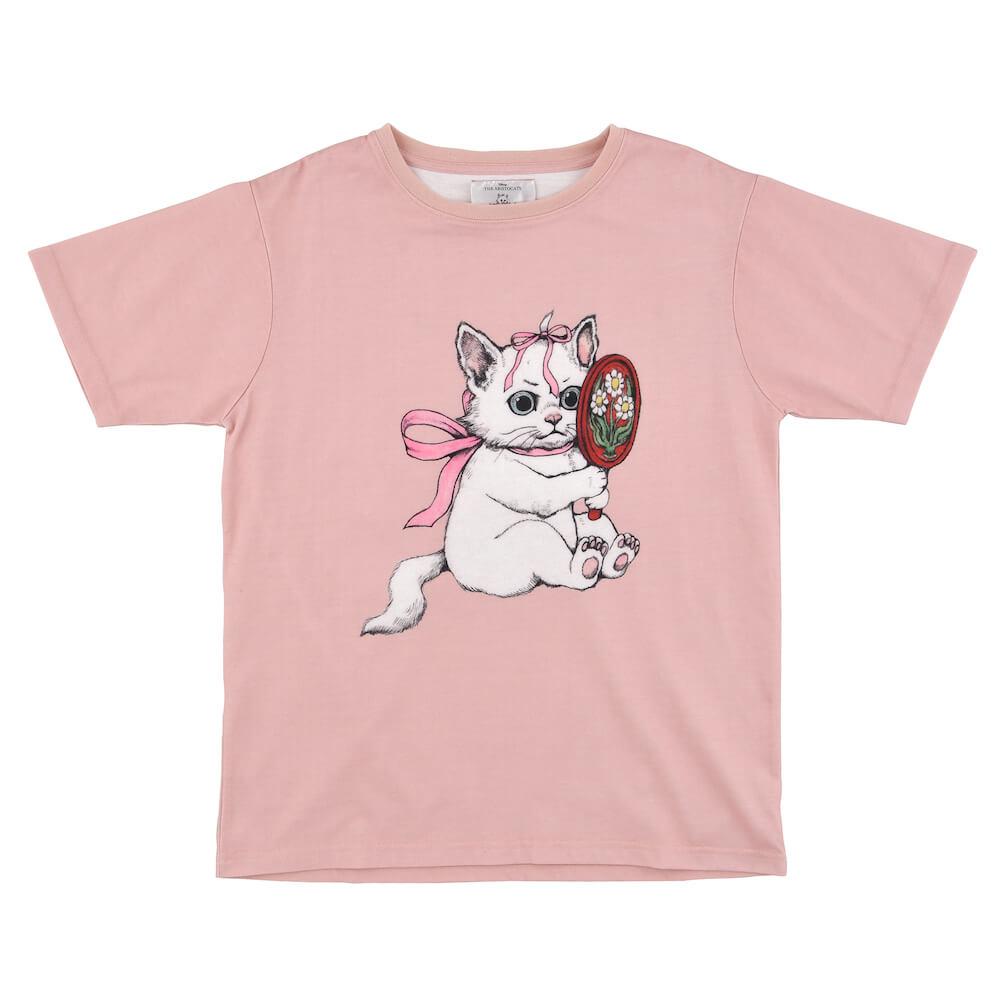 ヒグチユウコが描く「おしゃれキャットマリー」の半袖Tシャツ