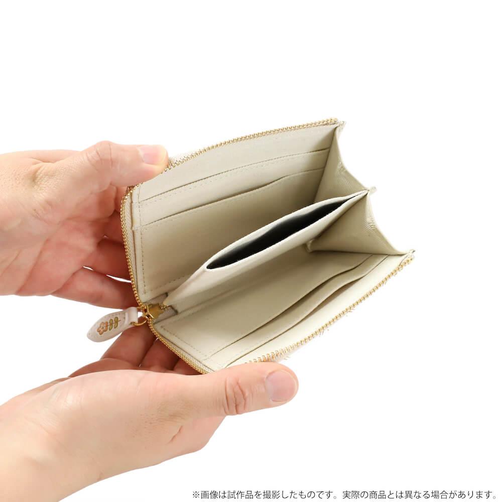 ニャンコ先生デザインのミニ財布の中を開けたイメージ by 革製品メーカーの「浅草文庫」