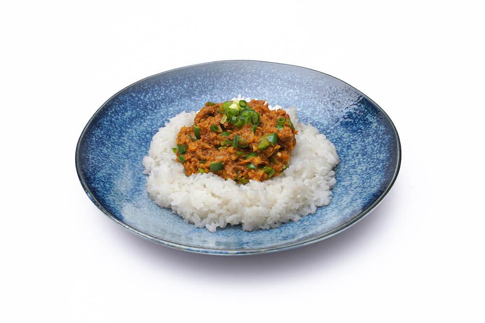 とびうおのキーマカレー by フードロスを削減する魚の水煮缶詰「NEKOKAN(ねこかん)」の調理例
