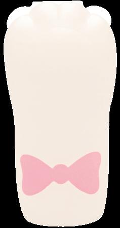 猫の手型のスクイーズ「ぷにぷに肉球にゃんこハンドスクイーズ」リボンつき白ねこ