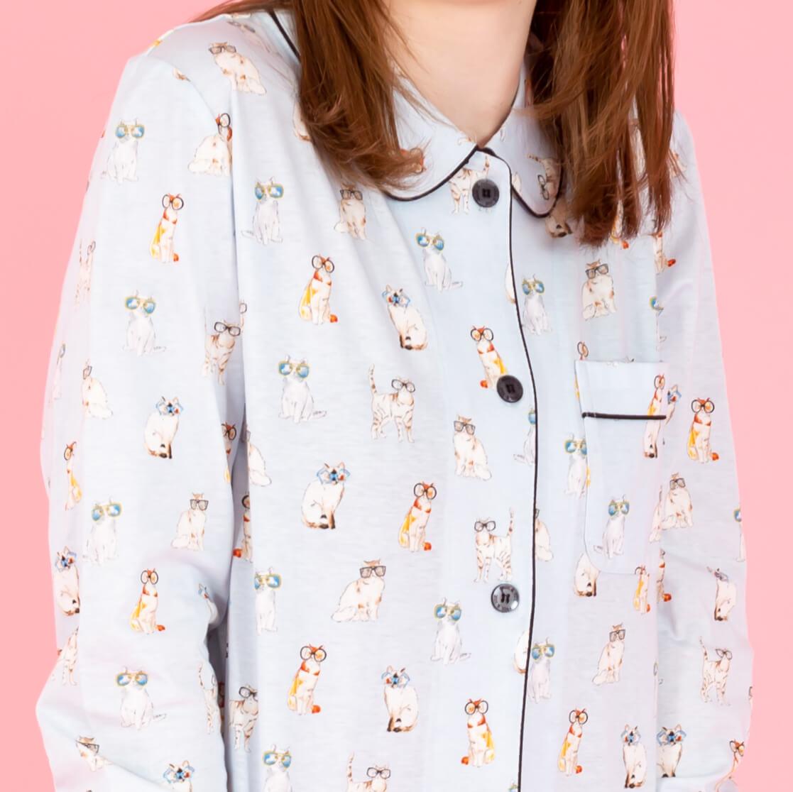サングラスキャット パジャマ(拡大イメージ) by ポールアンドジョーの猫パジャマ