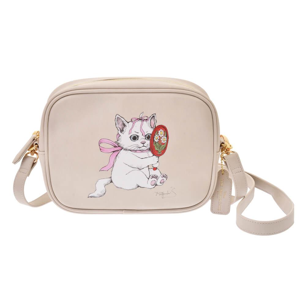 ヒグチユウコが描く「おしゃれキャットマリー」のショルダーバッグ