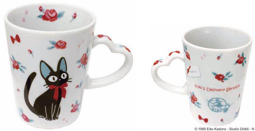 黒猫のジジと薔薇をモチーフにしたデザイン商品、OKUROSEシリーズ「マグカップ」