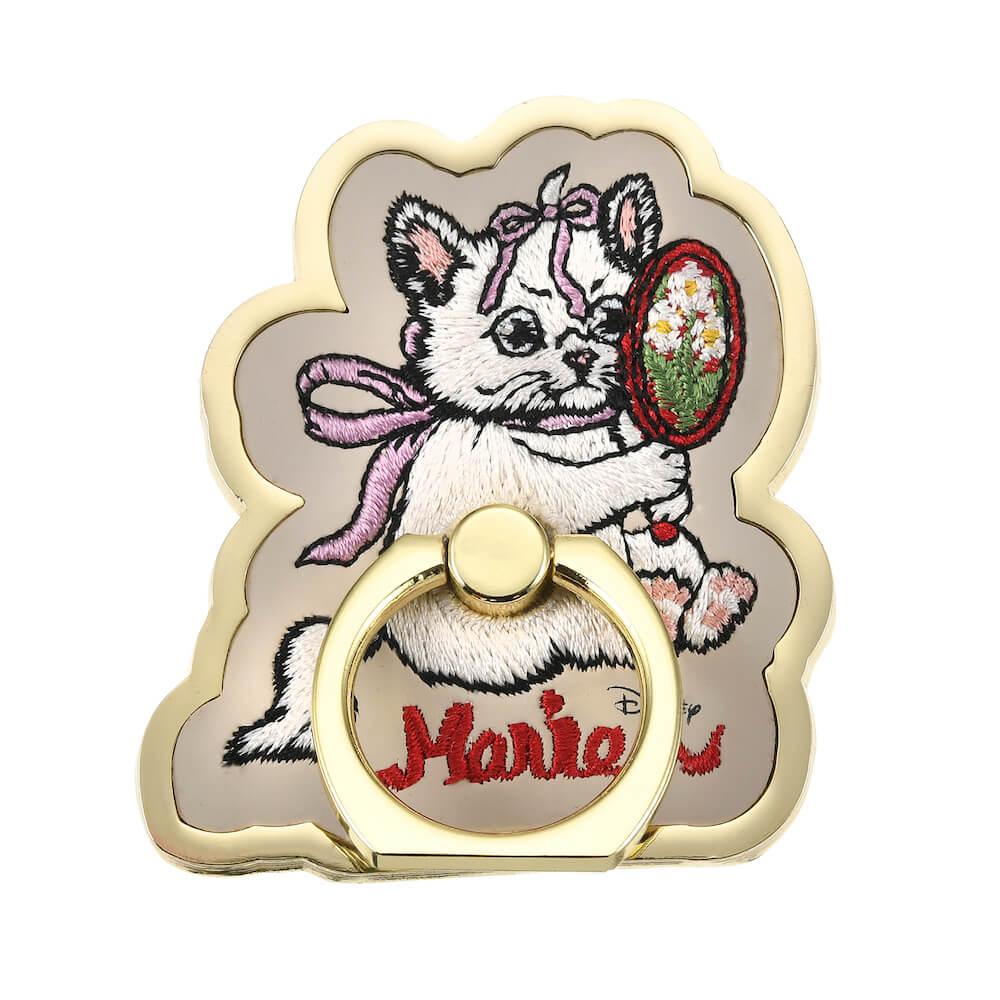 ヒグチユウコが描く「おしゃれキャットマリー」のスマートフォンリング