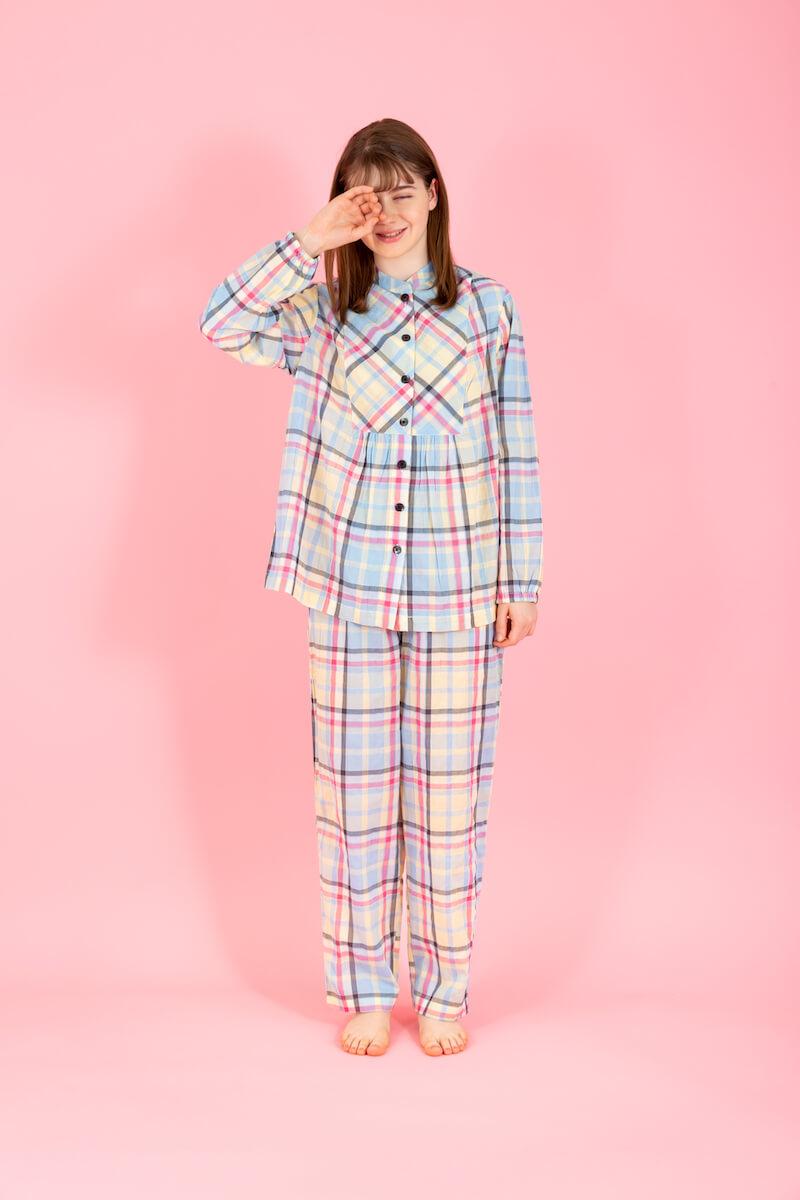シャーリングチェック長袖パジャマ by ポールアンドジョーのホームウェア