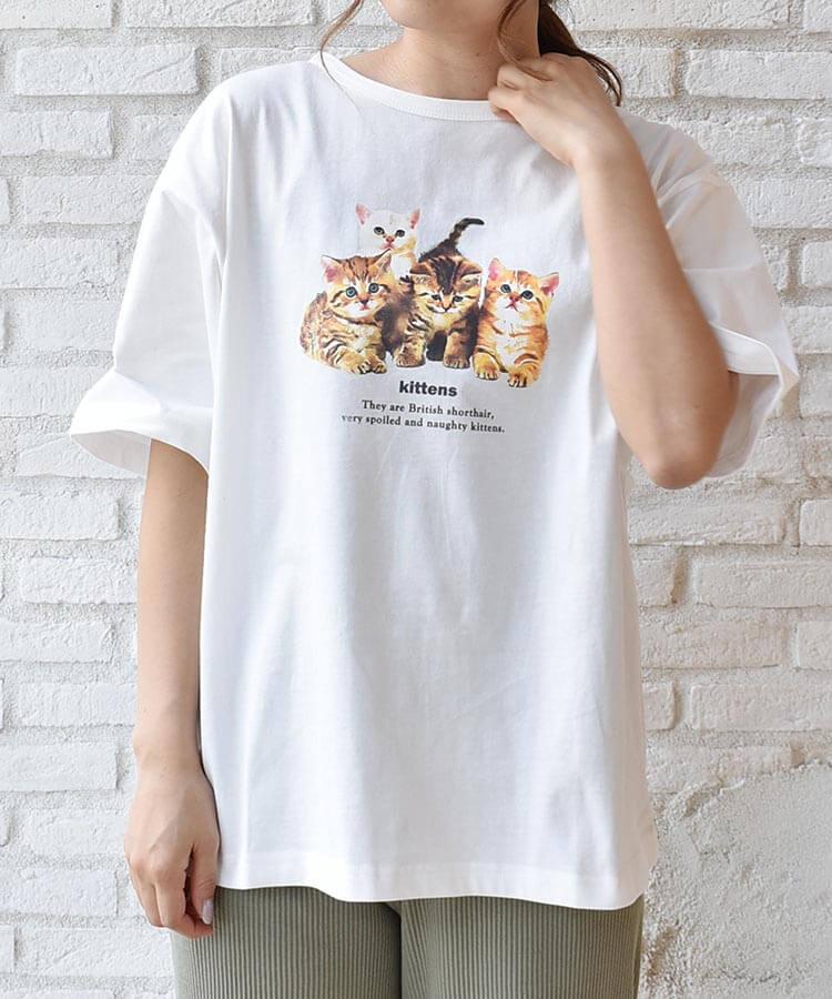 Bleu Bleuet(ブルーブルーエ)の子猫Tシャツ製品イメージ