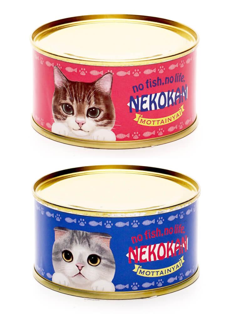 猫のイラストがデザインされた魚の水煮缶詰「NEKOKAN(ねこかん)」