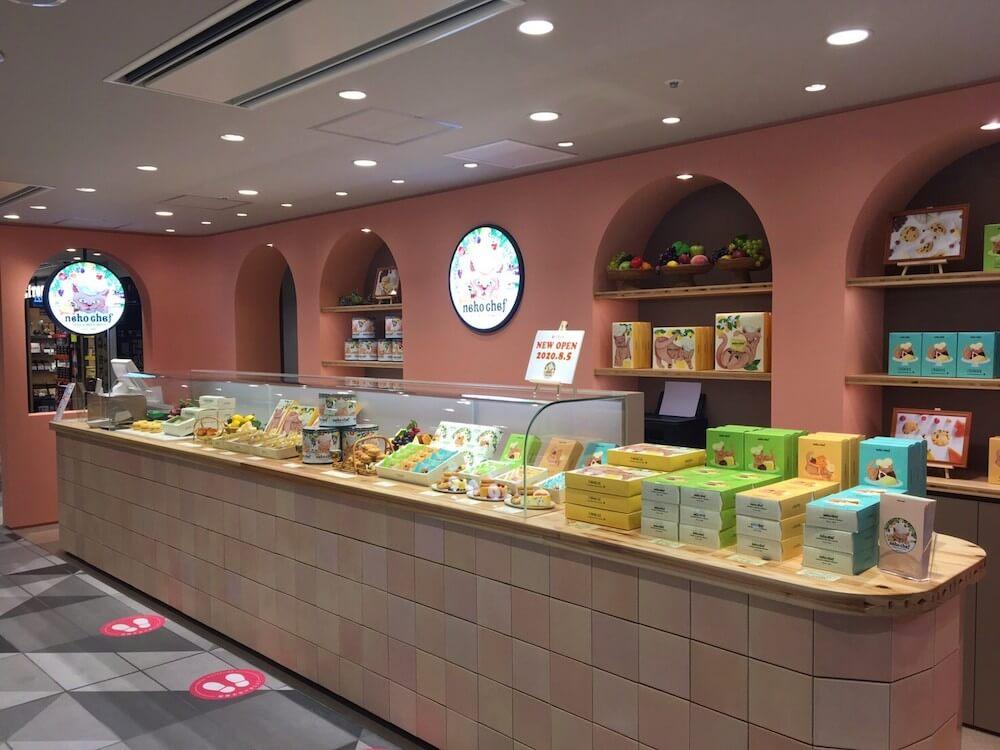 猫パッケージのスイーツブランド「ネコシェフ」東京ギフトパレット店イメージ