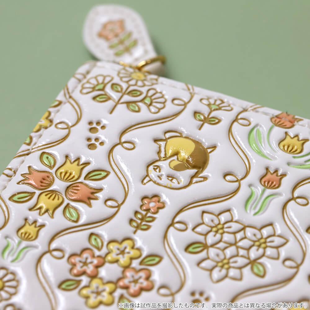 ニャンコ先生デザインのミニ財布の拡大イメージ by 革製品メーカーの「浅草文庫」