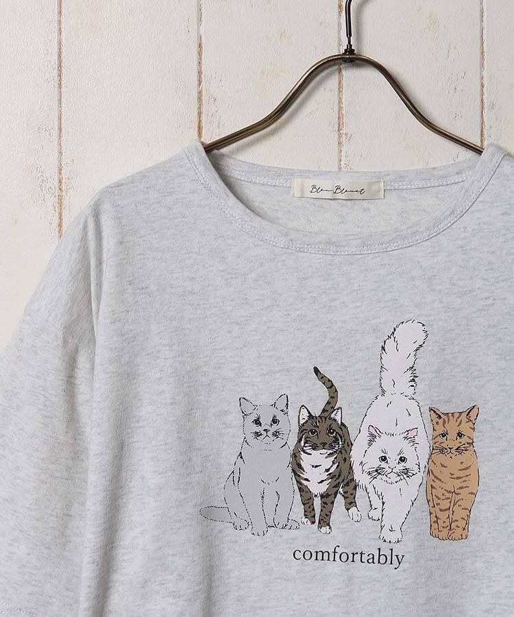 Bleu Bleuet(ブルーブルーエ)のキャットフレンズTシャツ製品イメージ