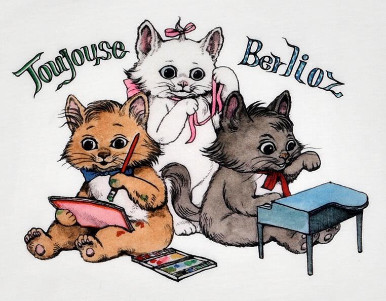 ヒグチユウコが描くおしゃれキャットの猫「マリー」「ベルリオーズ」「トゥルーズ」