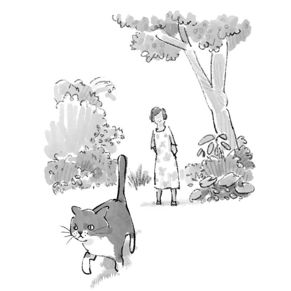 書籍「猫がいてくれるから」の挿絵 by 深尾竜騎
