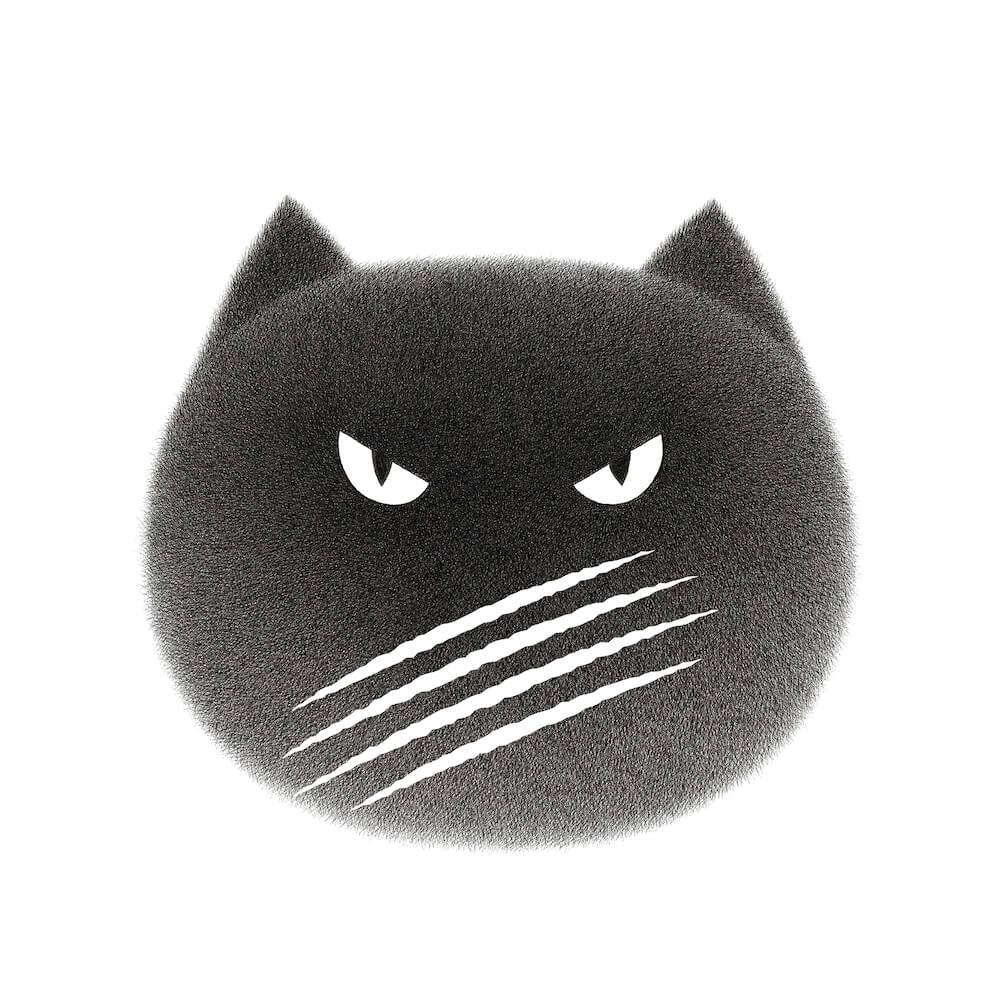 マレーシア出身のアーティスト・Kamwei Fongがデザインした猫の顔のイラスト by CACAOCAT(カカオキャット)