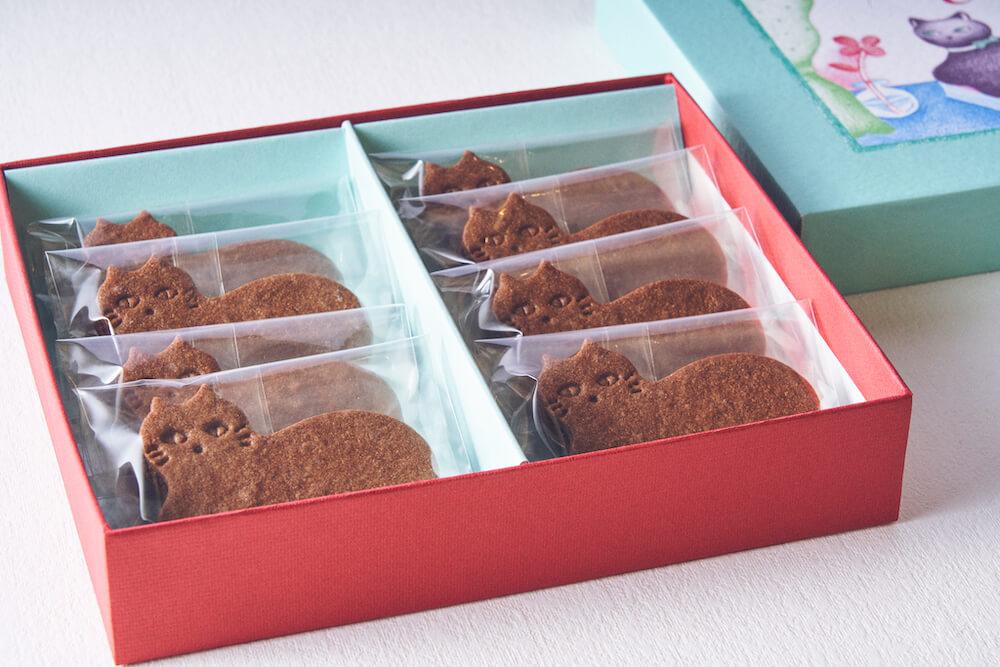 個包装された状態の猫型のチョコミントサンドクッキー by フェアリーケーキフェア