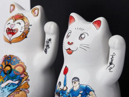 キャプテン翼&宇宙戦艦ヤマト作者のイラストが招き猫に!ラッキーキャット東京エディション「Lucky Cat Tokyo Edition」