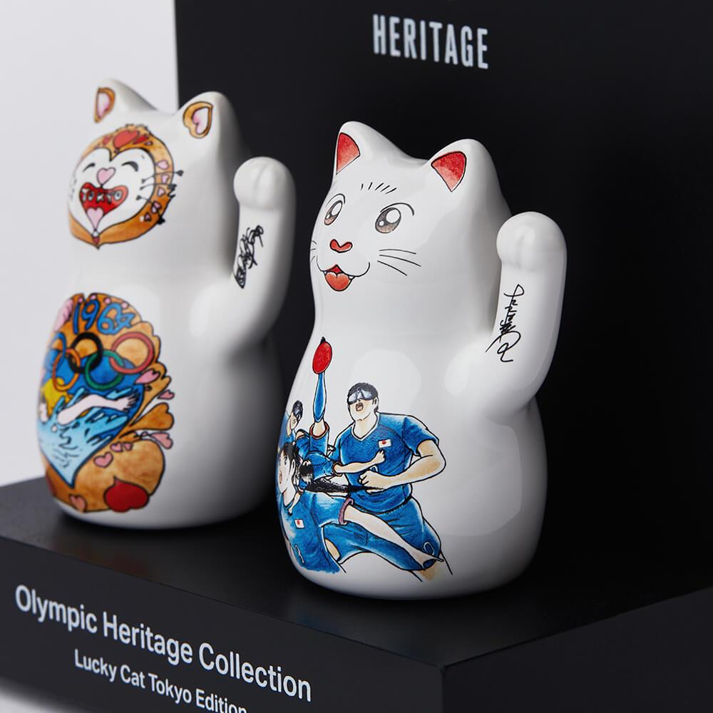 漫画家・松本零士&高橋陽一のイラストがデザインされた招き猫「ラッキーキャット東京エディション」