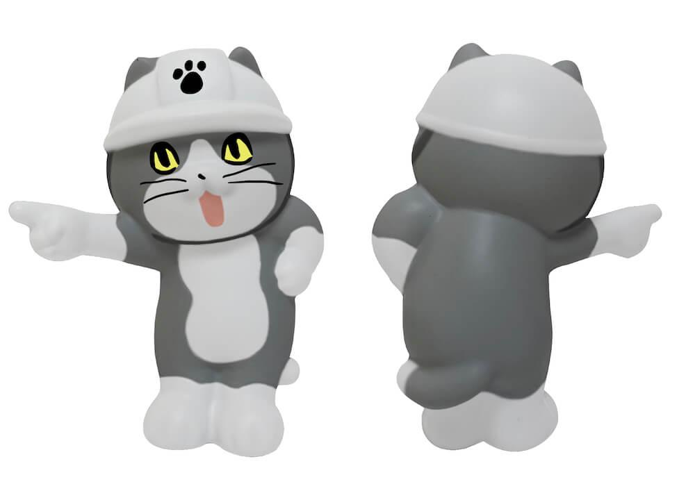 仕事猫のスクイーズフィギュア(表面+背面) by ブルーム