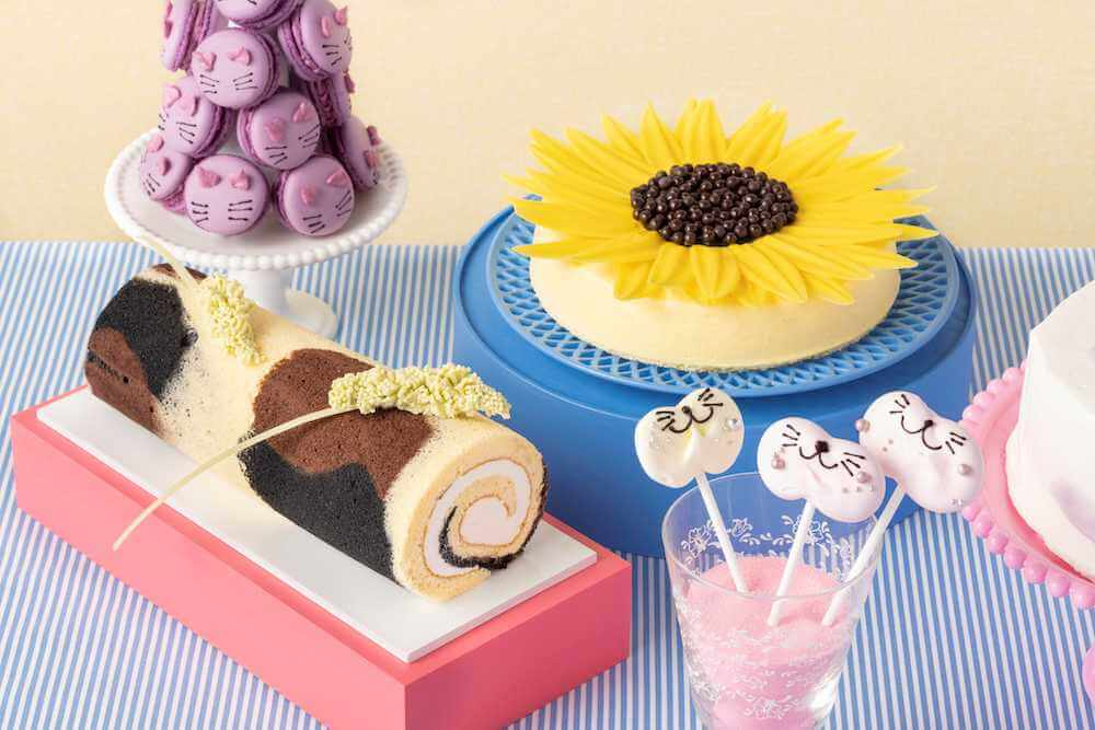三毛猫ほうじ茶ロールケーキ by ヒルトン東京ベイのデザートビュッフェ Love Kitty (ラブ・キティ)