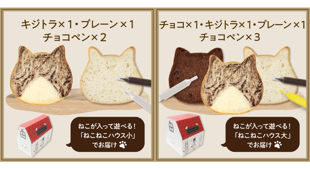 「ねこねこ食パン キジトラ」のセット内容イメージ