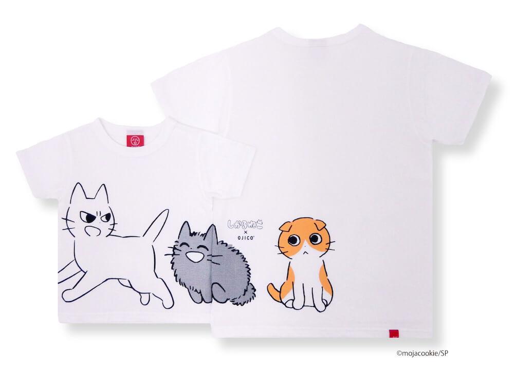 「しかるねこ」「あまやかすねこ」「ながめるねこ」のイラストがデザインされたTシャツ by OJICO(オジコ)