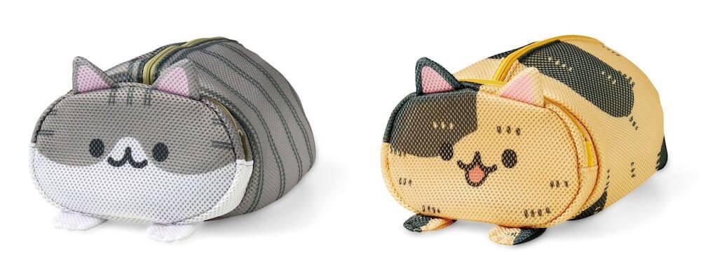 キジ白猫&サビ猫のデザイン by 香箱座り猫のお洗濯ポーチ