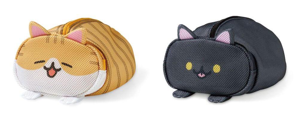 茶白猫&黒猫のデザイン by 香箱座り猫のお洗濯ポーチ