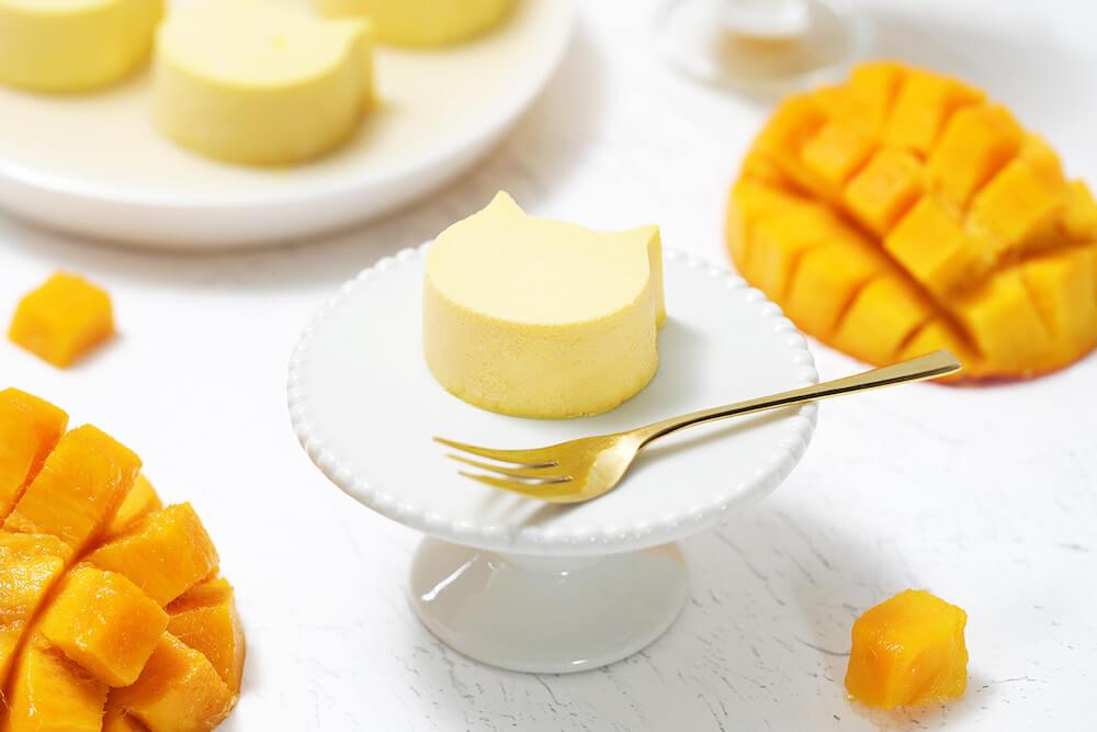 バスク風チーズケーキ「にゃんチー」のマンゴー味 by ねこねこチーズケーキ