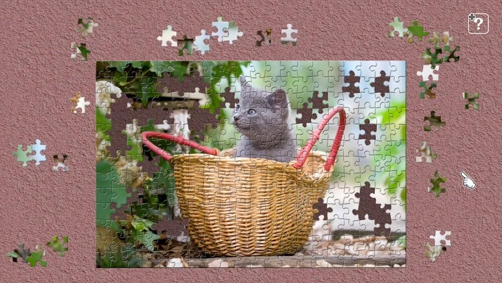 籠に入った子猫の写真を使ったジグソーパズル by ジグソーマスターピース